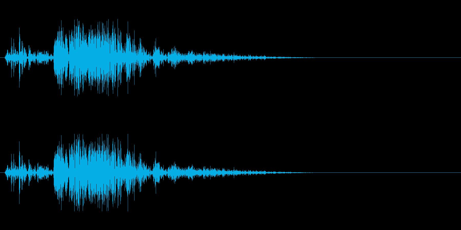 遠方の砲撃音の再生済みの波形