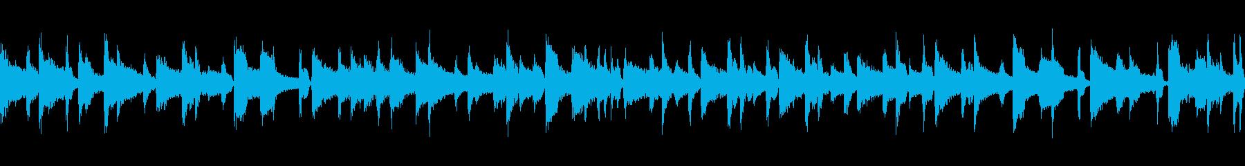 ジャズ ピアノバラード ループの再生済みの波形