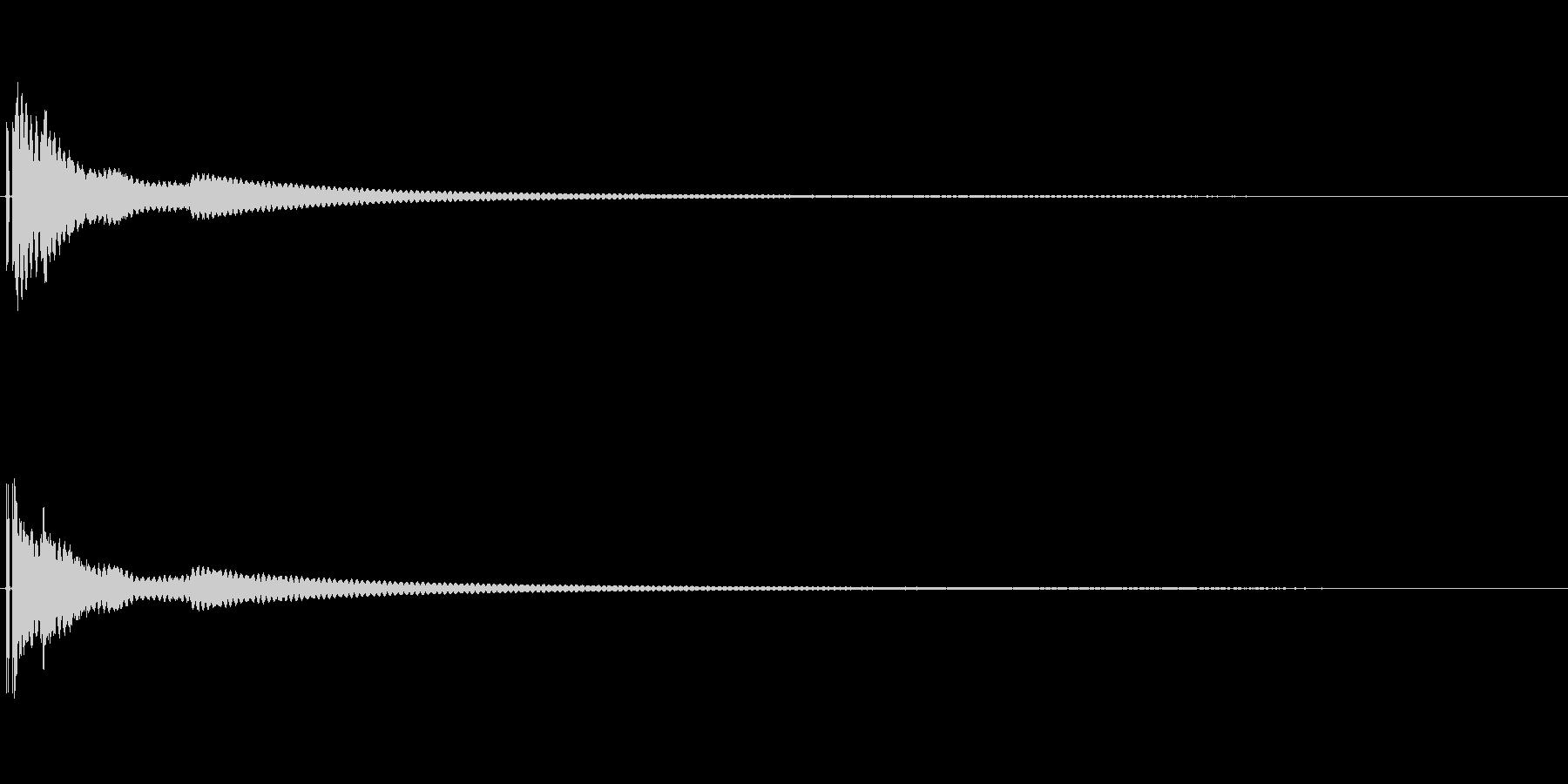 ベルの音。の未再生の波形