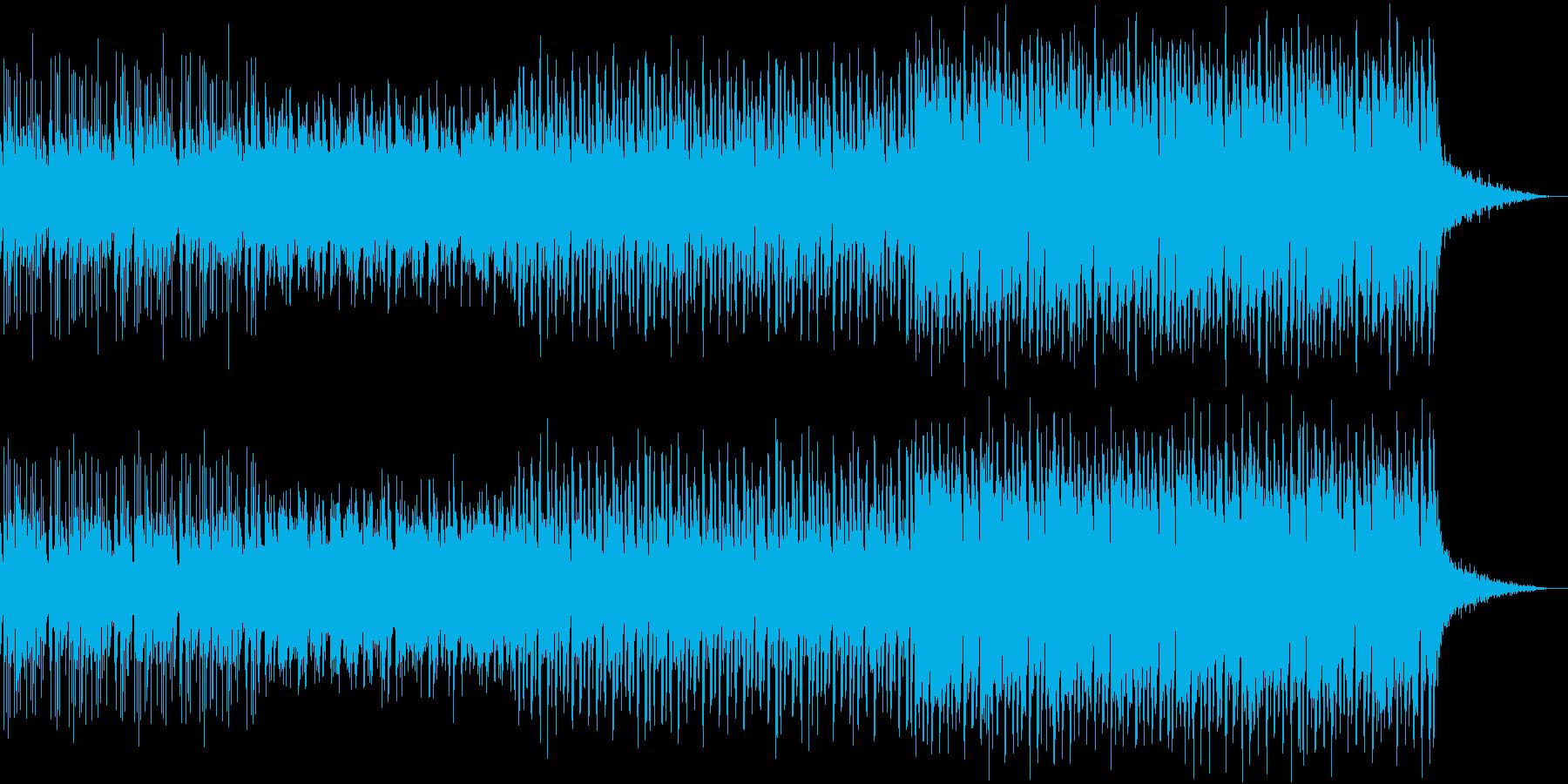 攻撃的なユーロビート、トランス曲の再生済みの波形