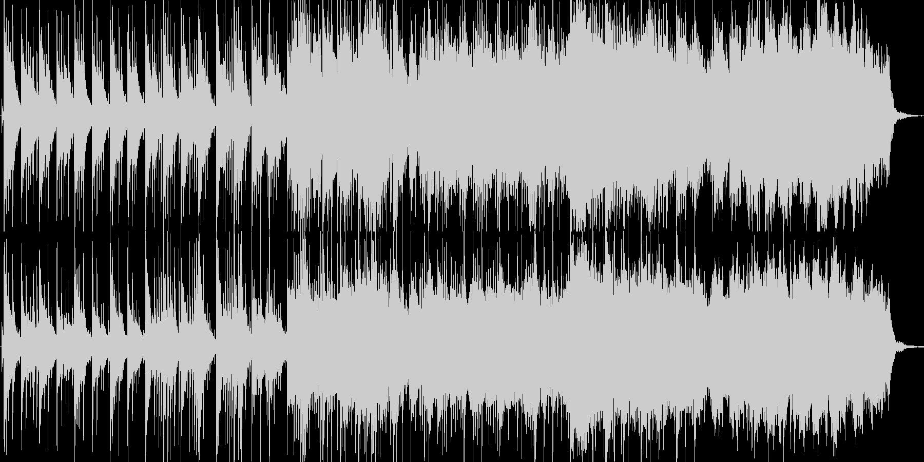 爽やかな雰囲気のBGMの未再生の波形