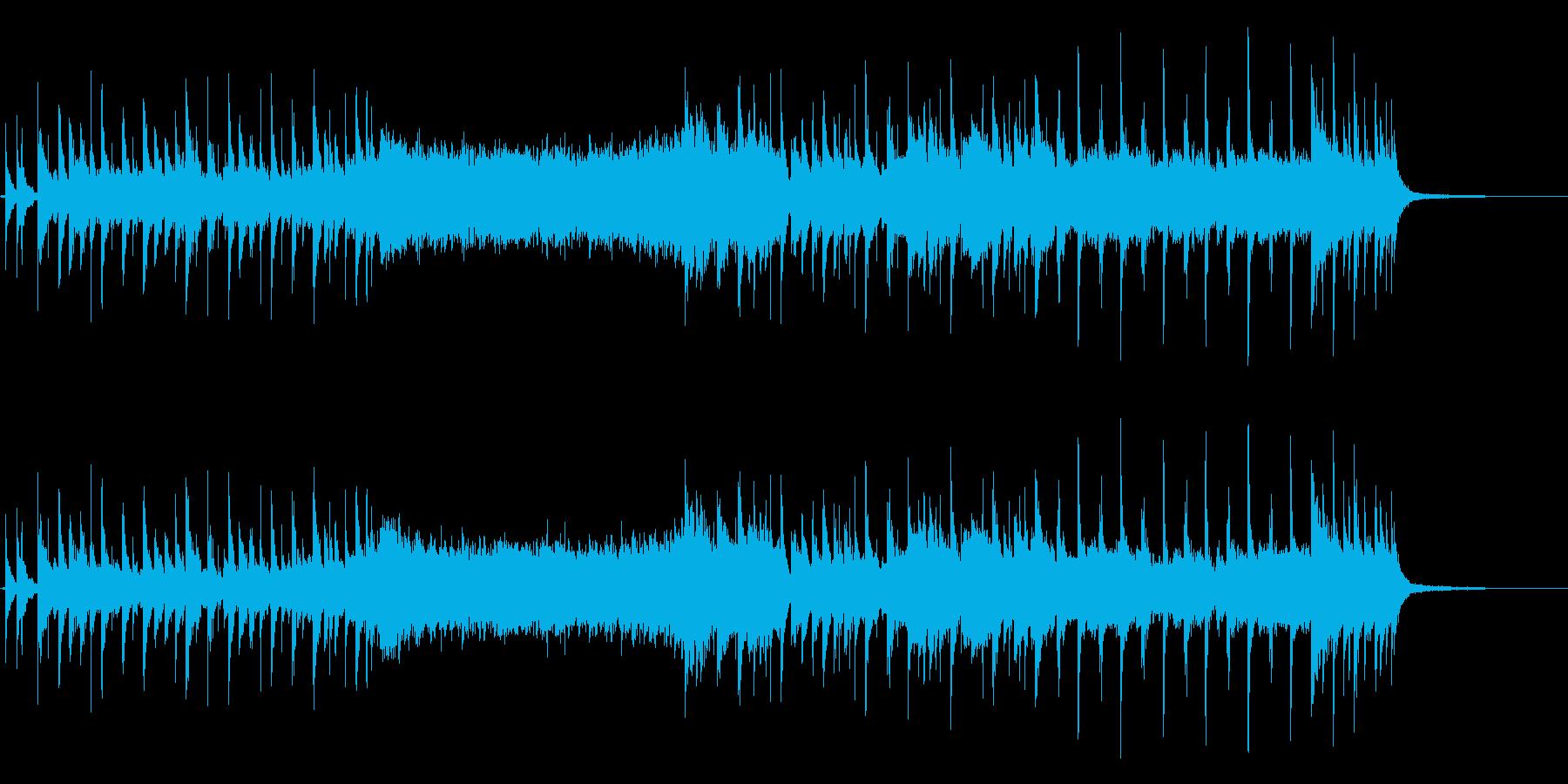 近未来的エレクトロニカ系ジングルの再生済みの波形