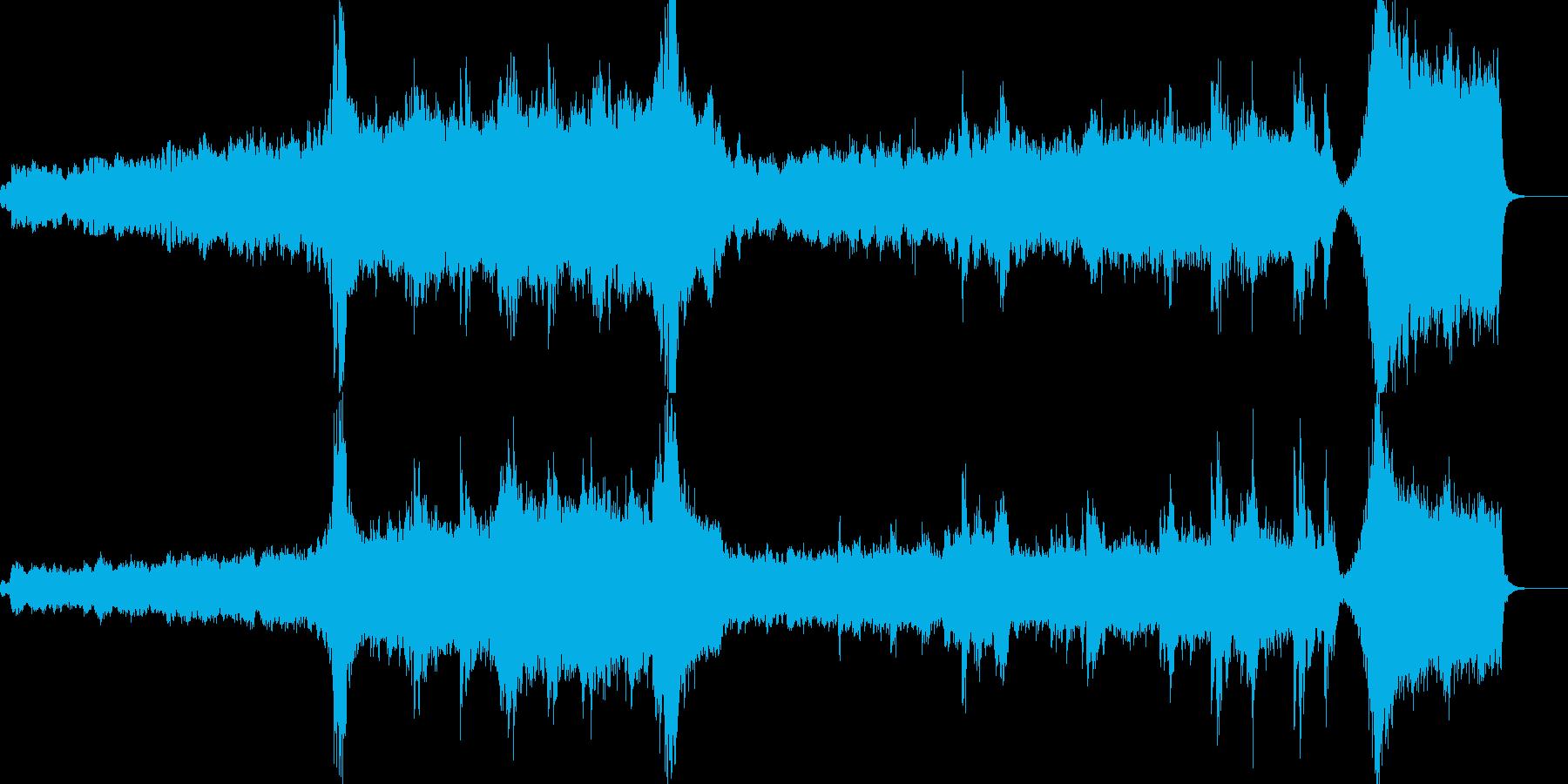 壮大で感動的な再開な感じのヒーリングの再生済みの波形