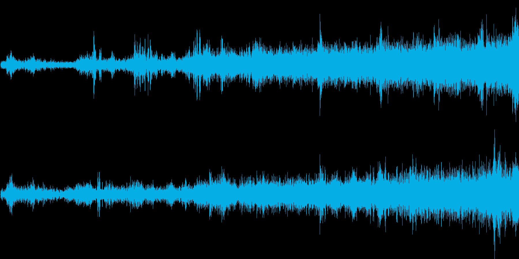 モノレール発車(車内で録音)の再生済みの波形