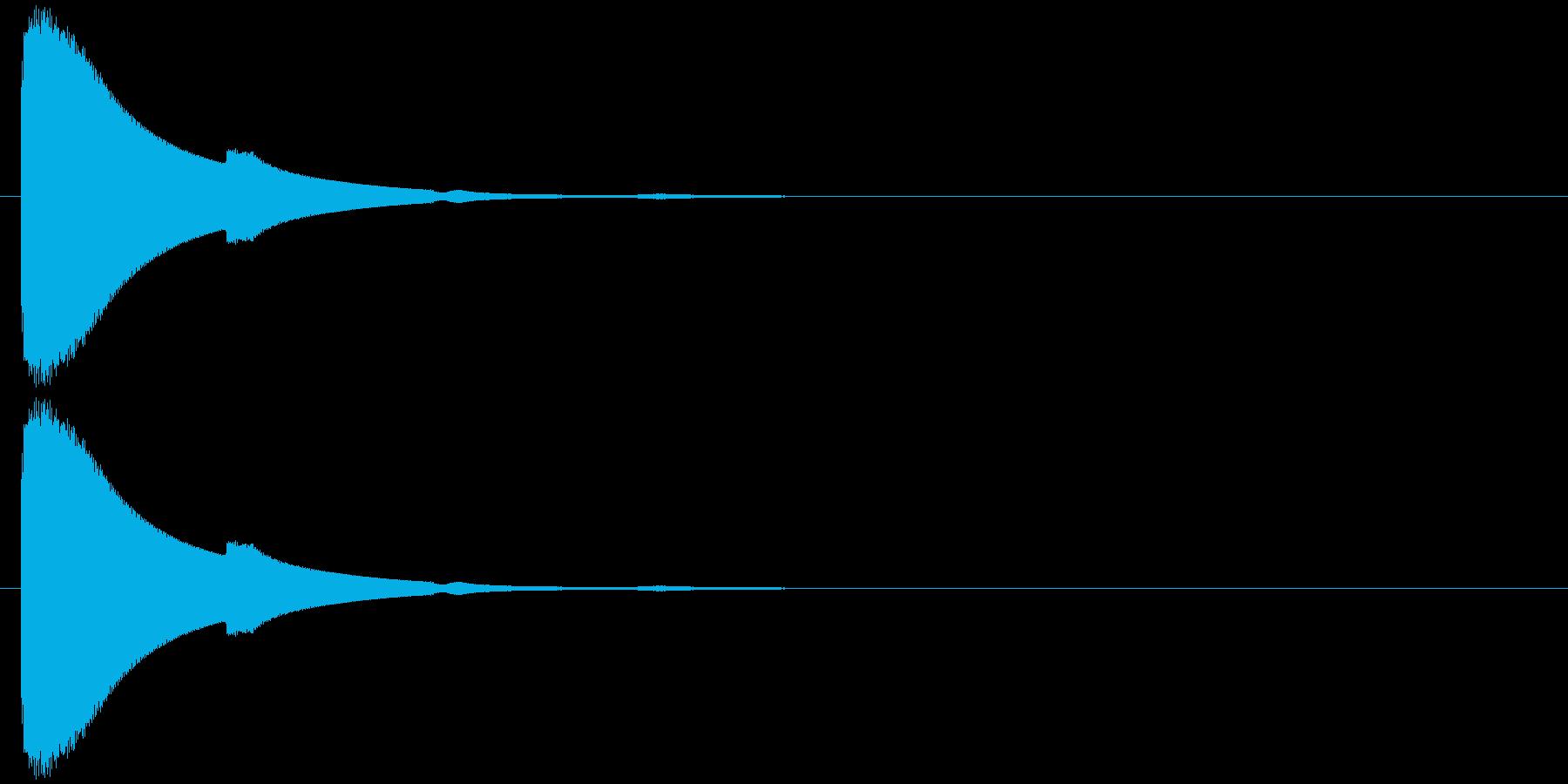 チン(響き有)の再生済みの波形