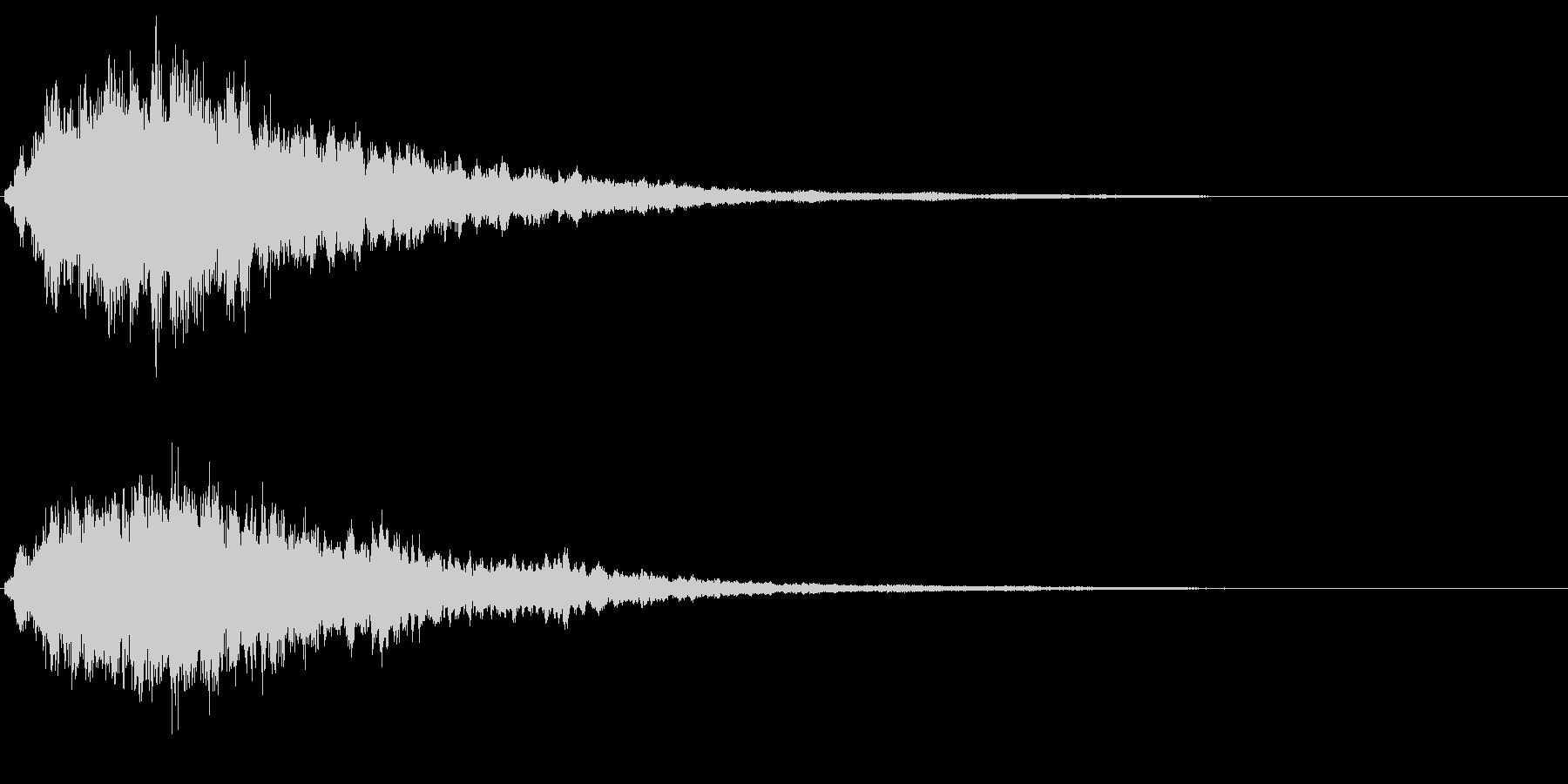 キラキラ輝く テロップ音 ボタン音 1bの未再生の波形