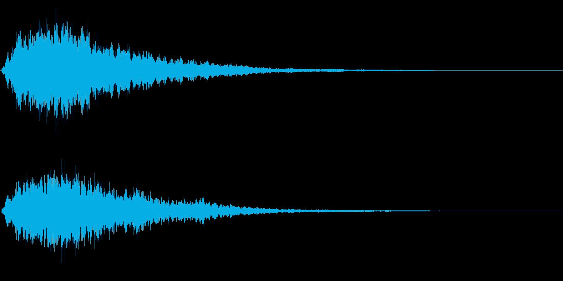 キラキラ輝く テロップ音 ボタン音 1bの再生済みの波形