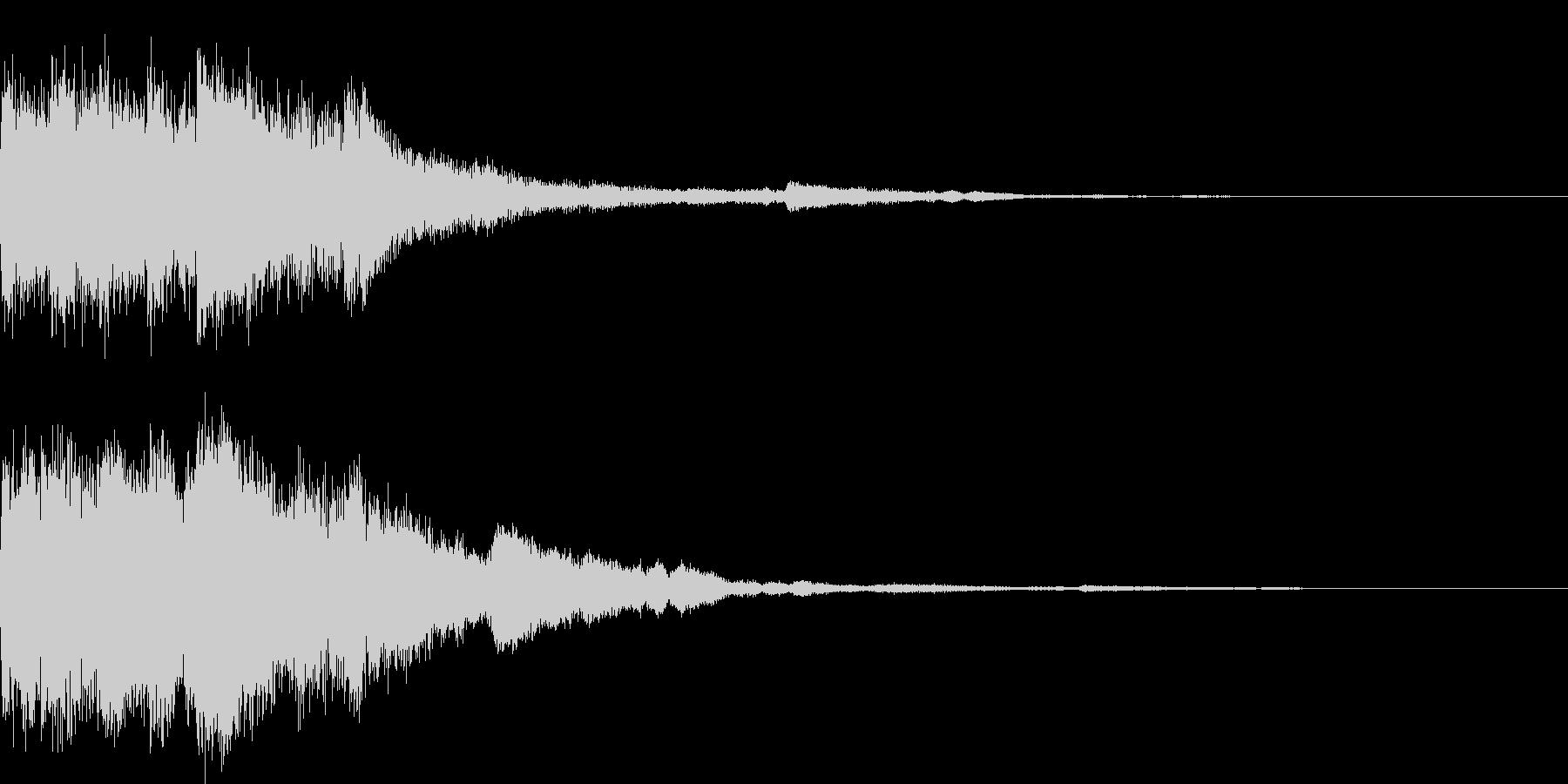 ロゴSE ポップアップ 決定音の未再生の波形