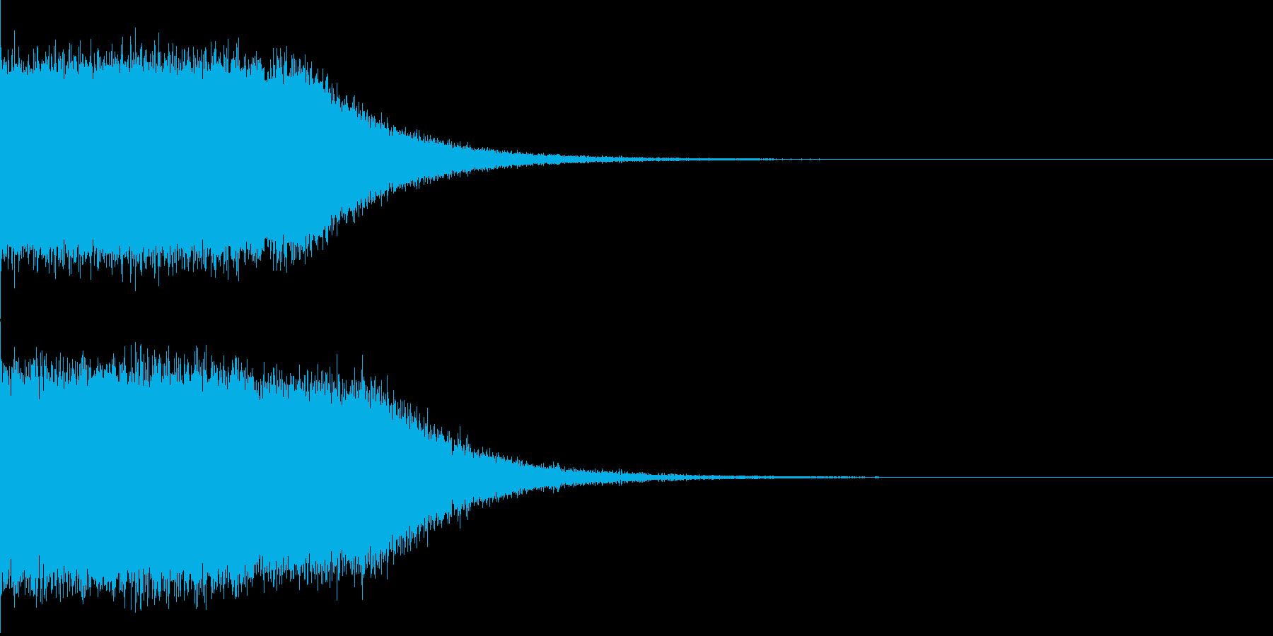 サンダー系の魔法の再生済みの波形