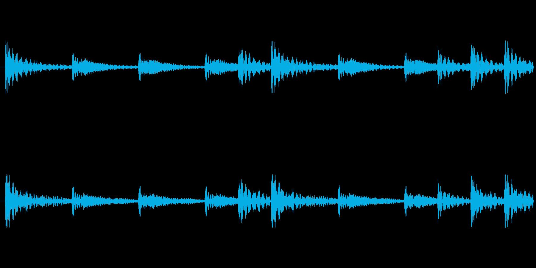 和太鼓のみループ時代劇侍の再生済みの波形