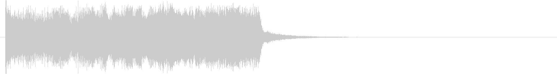 機械的な上昇音の未再生の波形