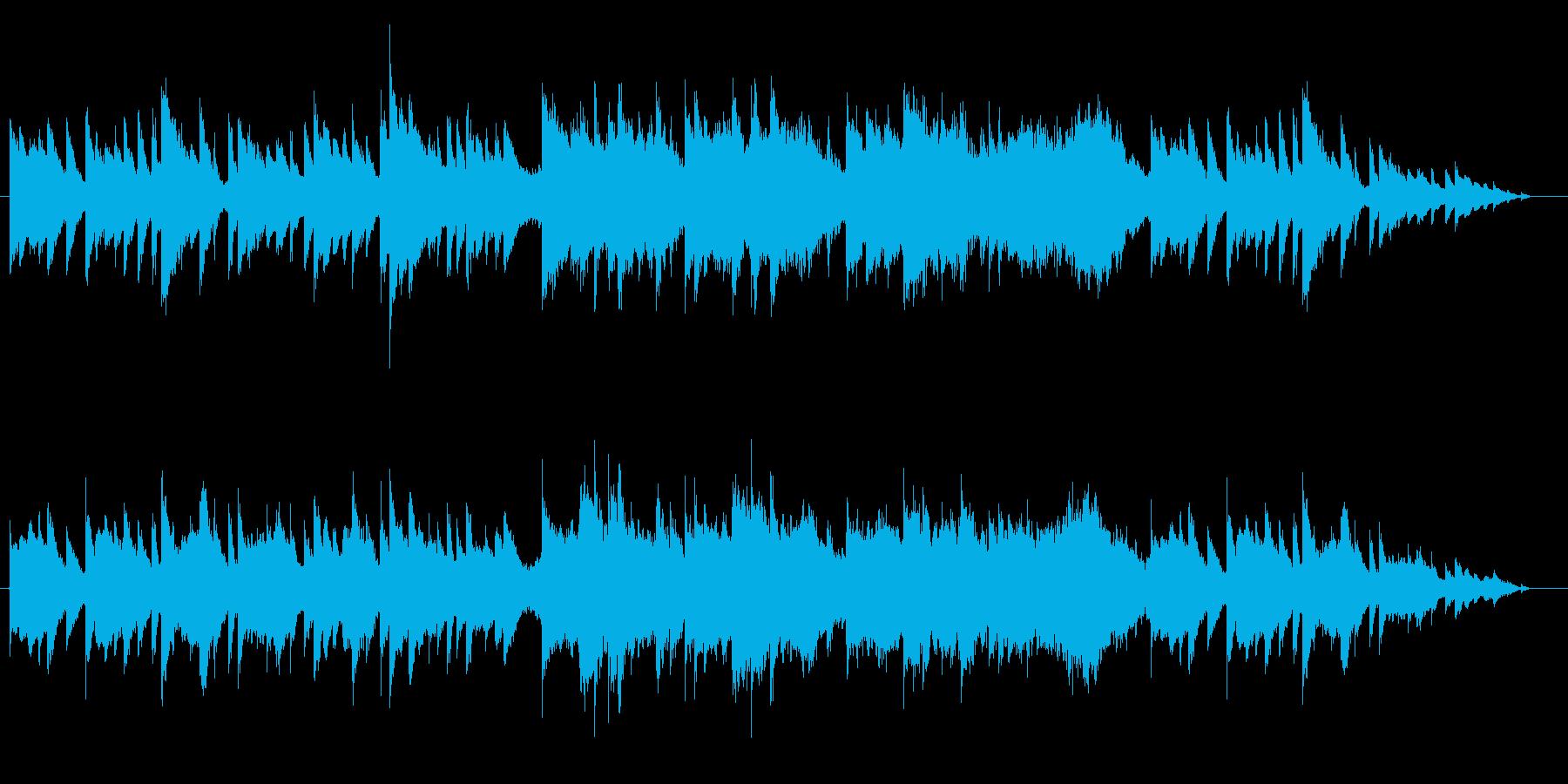 ピアノとストリングスの悲しげな曲の再生済みの波形