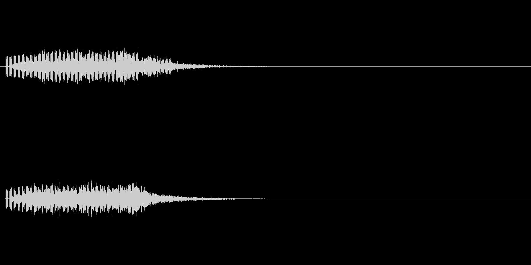 落下するような電子音の未再生の波形
