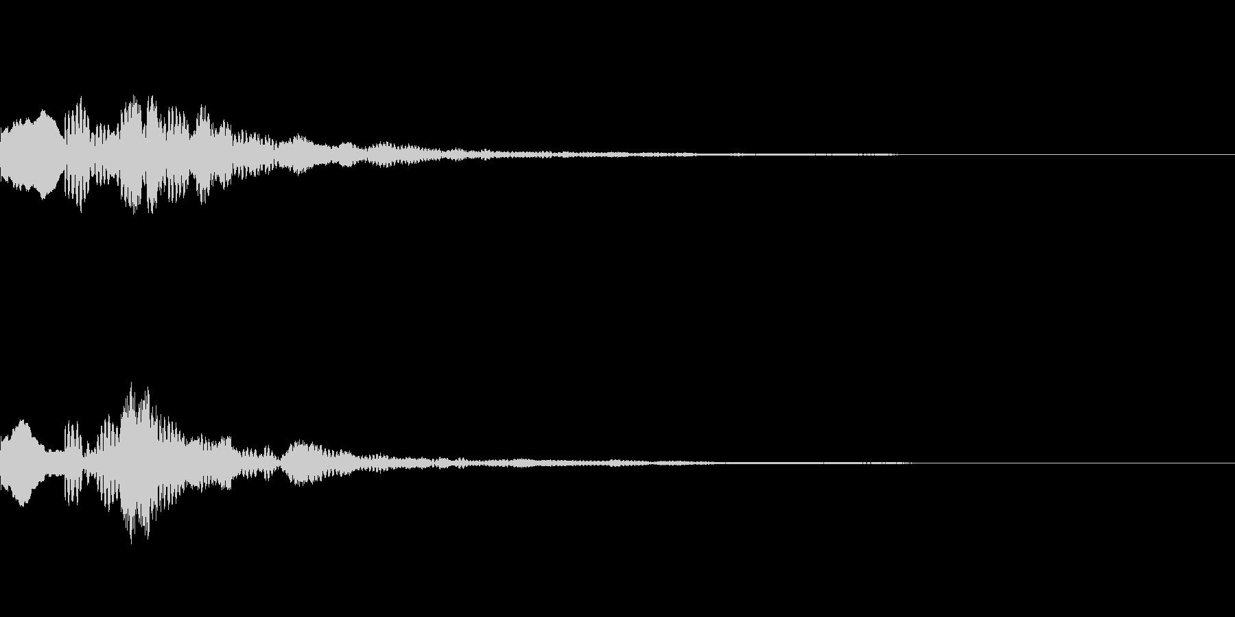 ピロリン(綺麗で透明感のある決定音)の未再生の波形