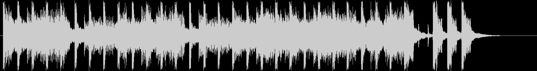 ほのぼのしたシンセサイザーなどのサウンドの未再生の波形