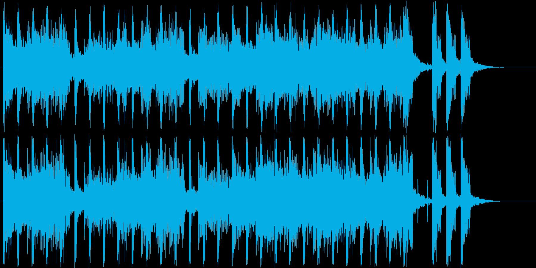 ほのぼのしたシンセサイザーなどのサウンドの再生済みの波形