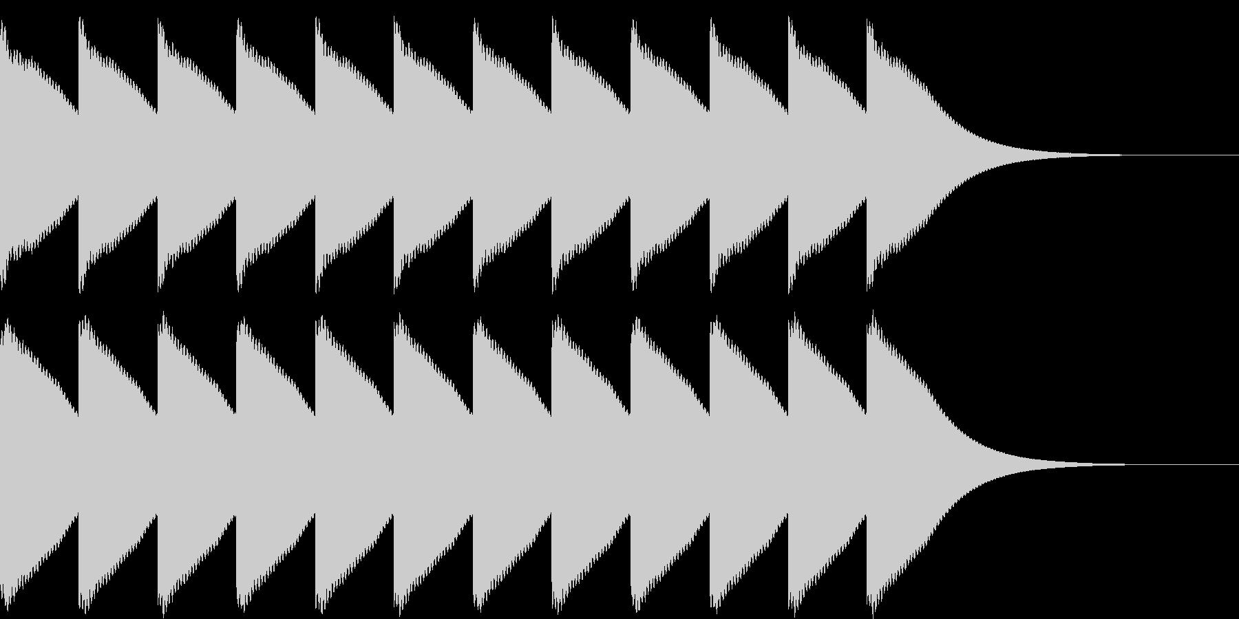ゴーンゴーン...。時計の鐘D(低・長)の未再生の波形