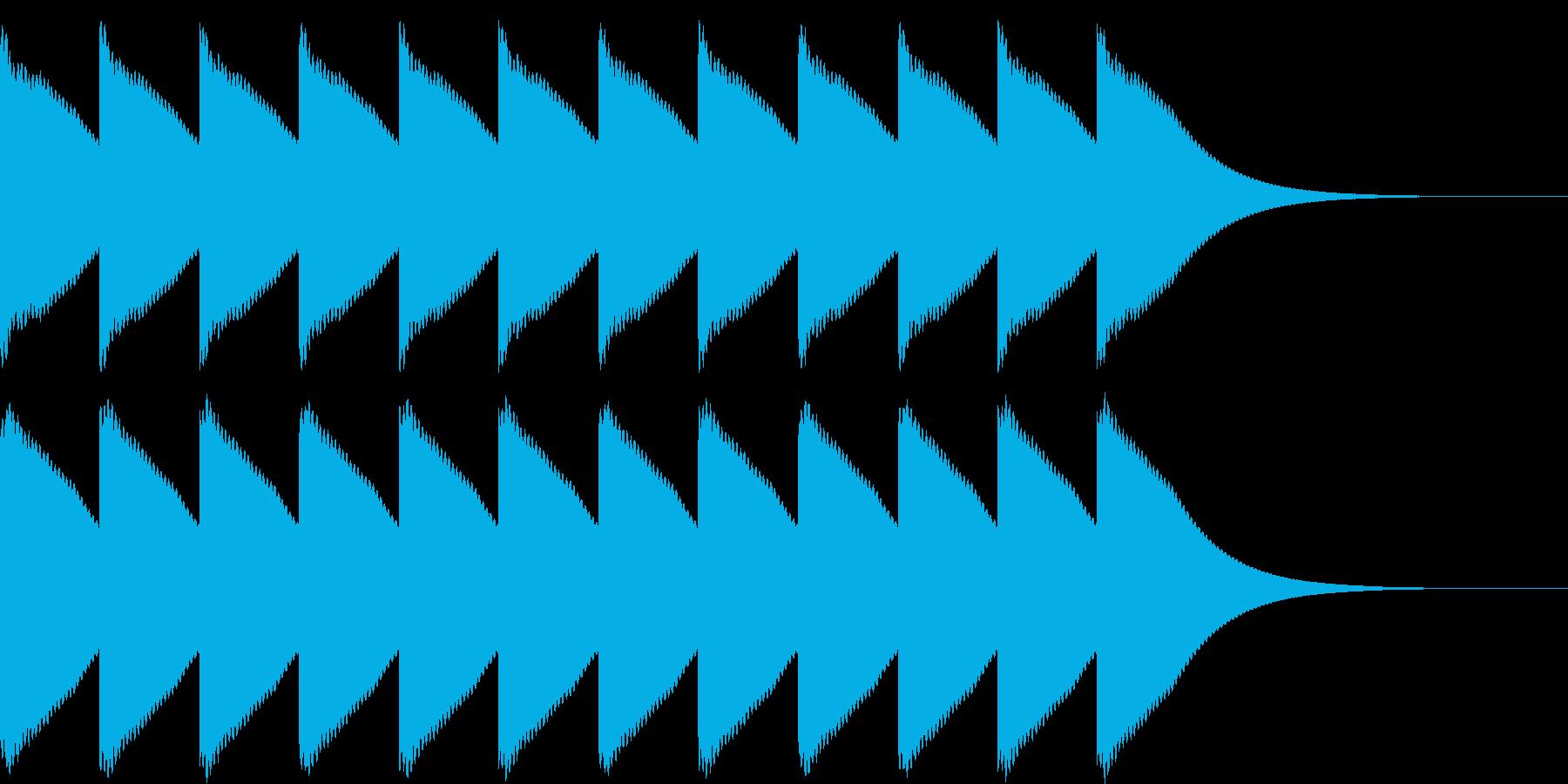 ゴーンゴーン...。時計の鐘D(低・長)の再生済みの波形