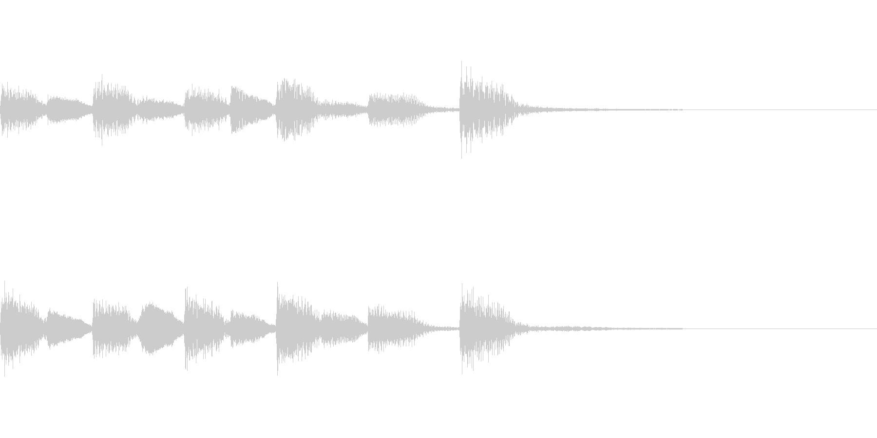 ゲームオーバーのピアノジングルの未再生の波形