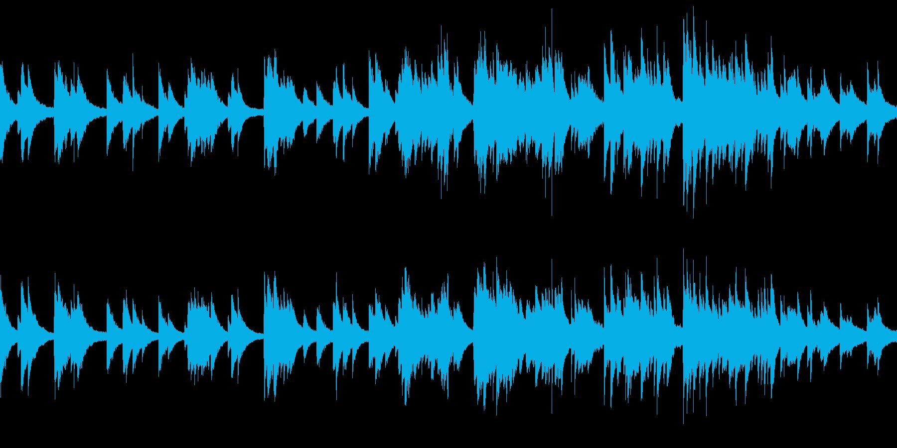 穏やかで爽やかなBGM(ピアノのみ)の再生済みの波形