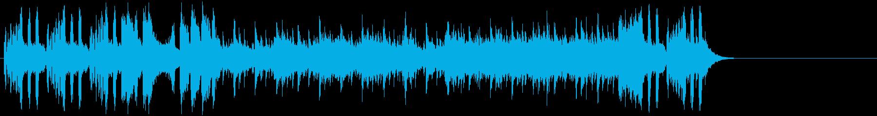 ゆったりしたエンド(イントロ~A~イ…)の再生済みの波形