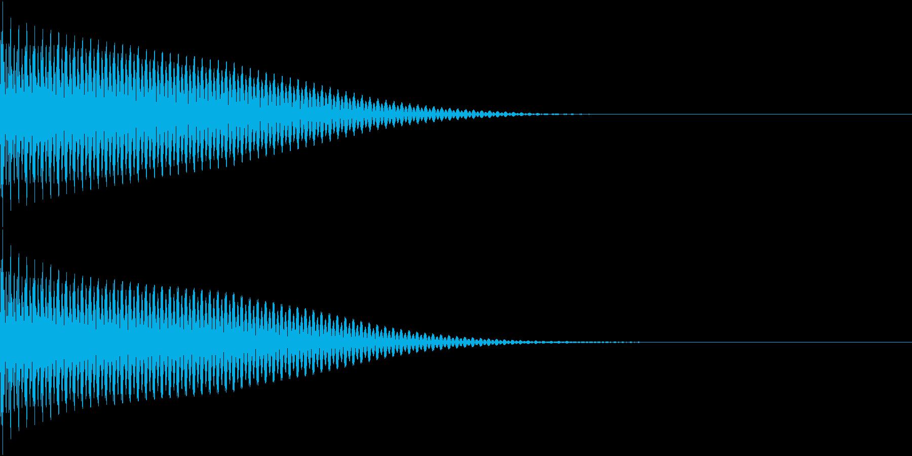 App コマンド音 ポンッ 決定の再生済みの波形
