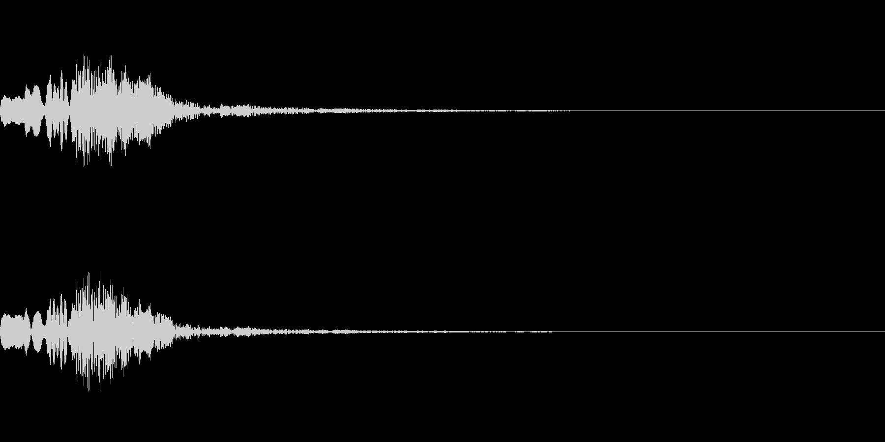 決定音17の未再生の波形