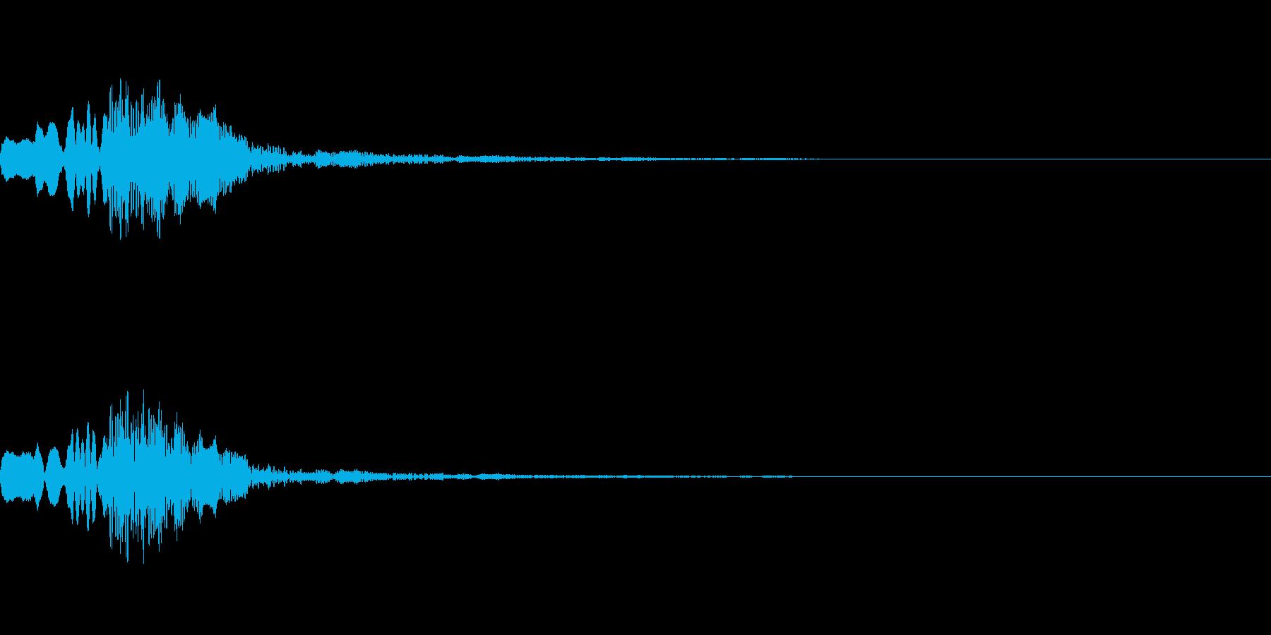 決定音17の再生済みの波形