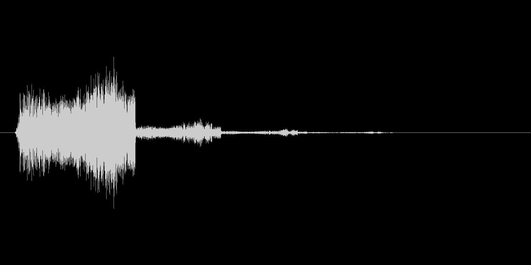 アイテムゲットの音やスマホアプリの決定…の未再生の波形