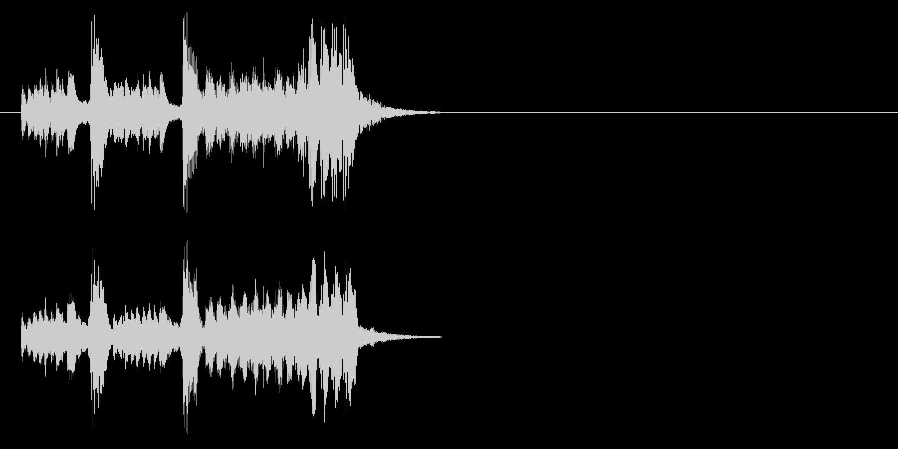 コミカルタッチジングルの未再生の波形