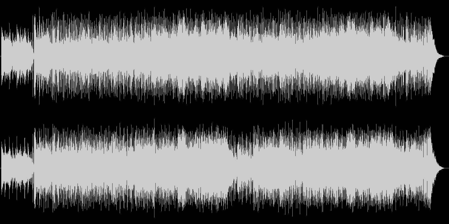 少し変わったノリノリな実験音楽風BGMの未再生の波形
