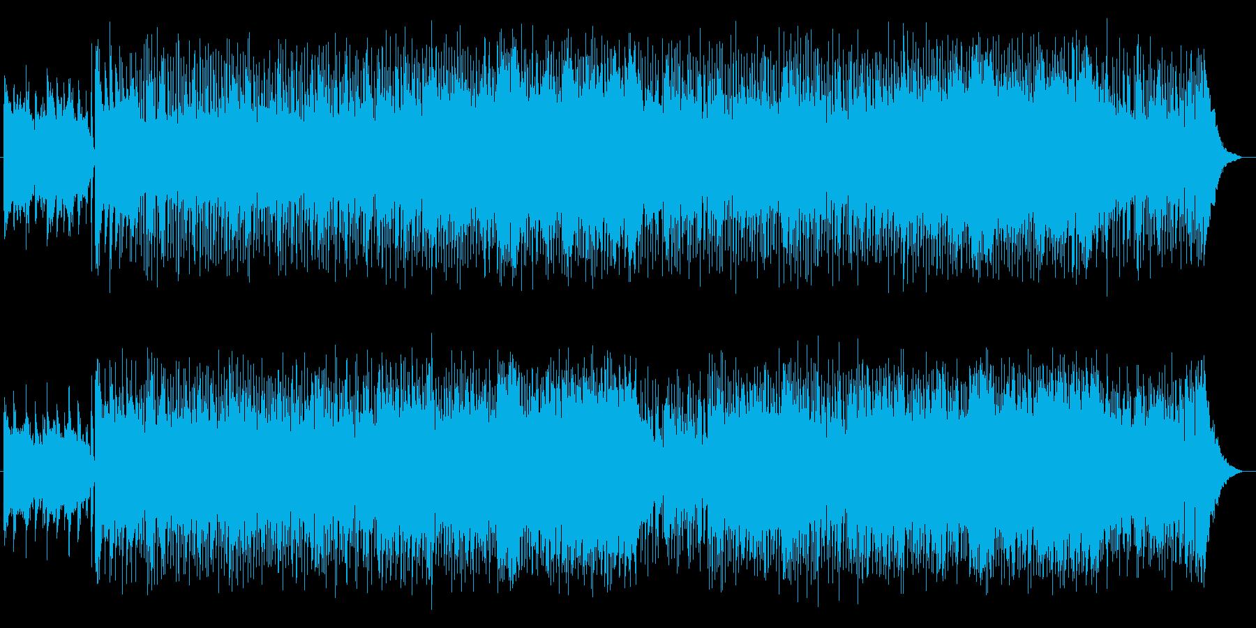 少し変わったノリノリな実験音楽風BGMの再生済みの波形