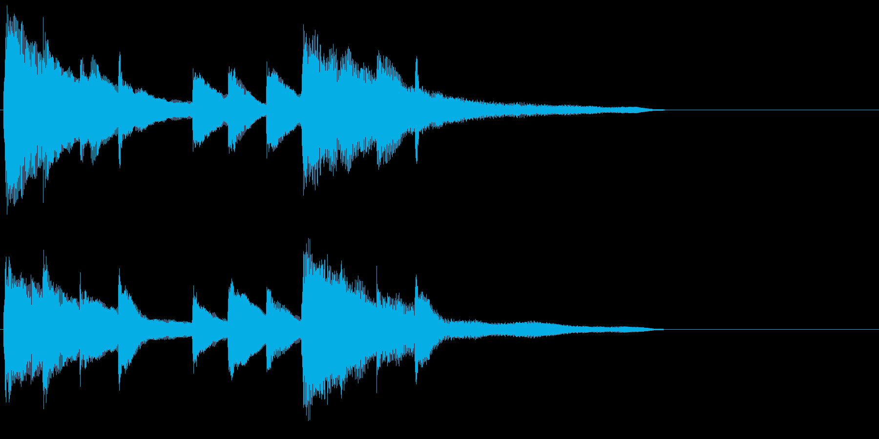 ピアノ ジングル07 きれいの再生済みの波形
