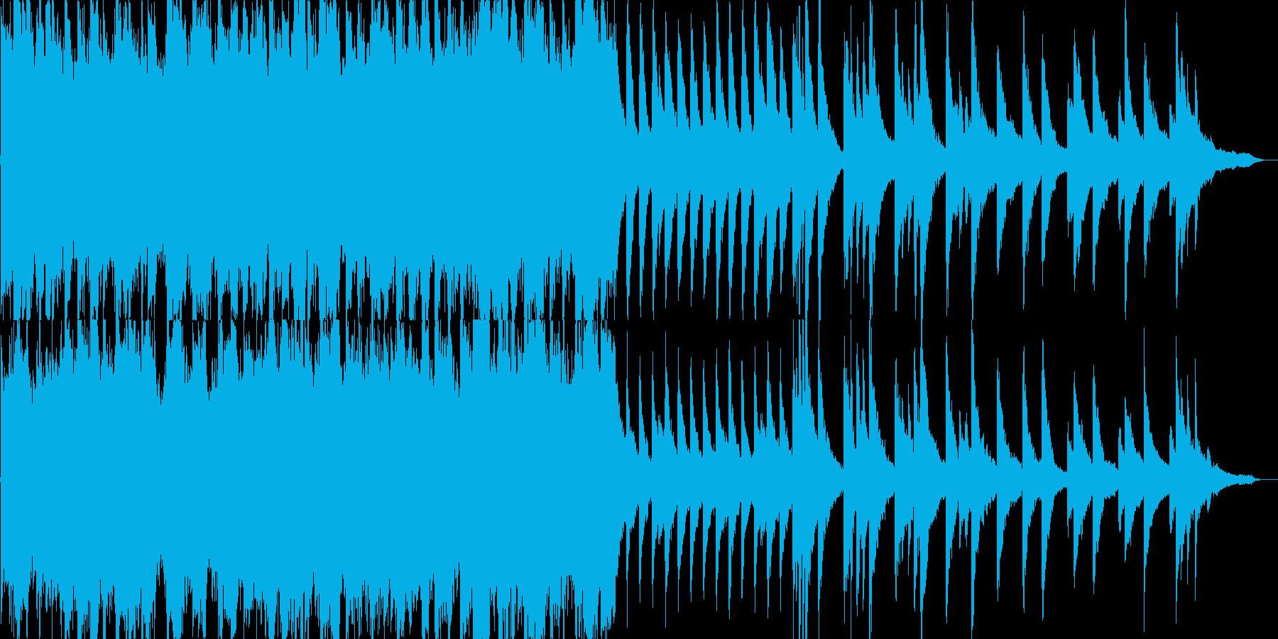 ピアノオーケストラの悲しいバラードの再生済みの波形