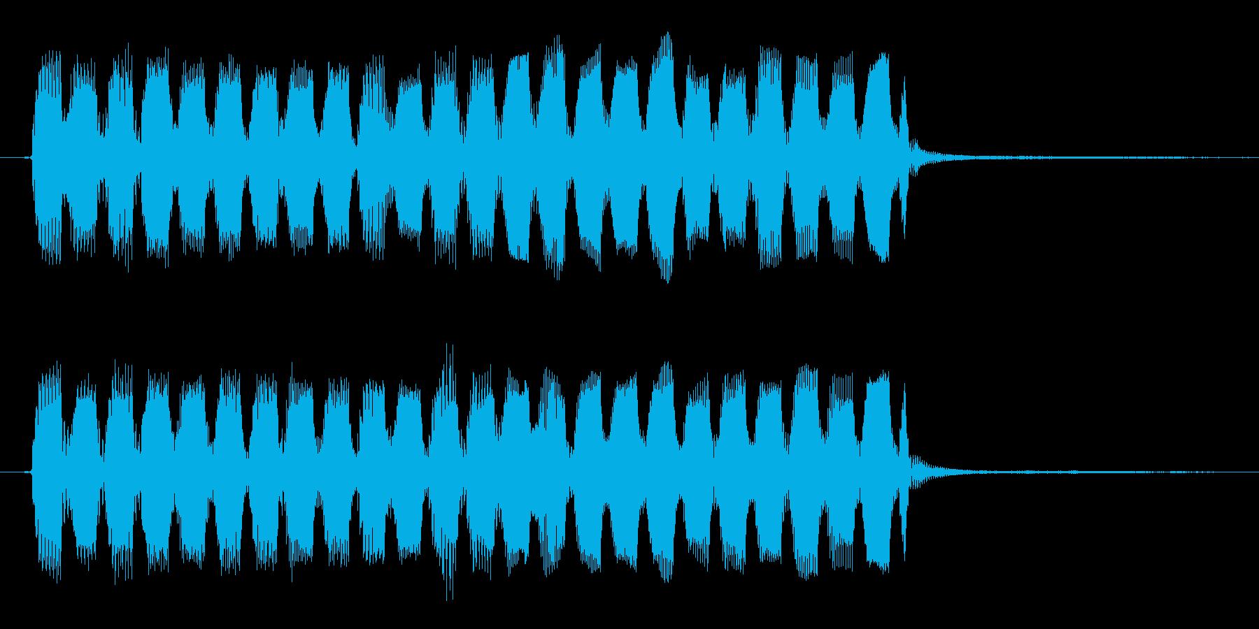 コミカルで変な効果音・アイテム出現音の再生済みの波形