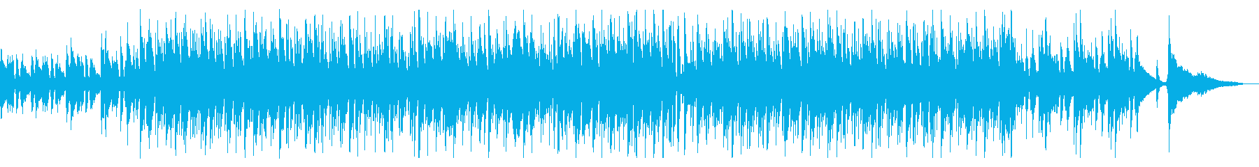 軽快でおしゃれなカフェ音楽の再生済みの波形