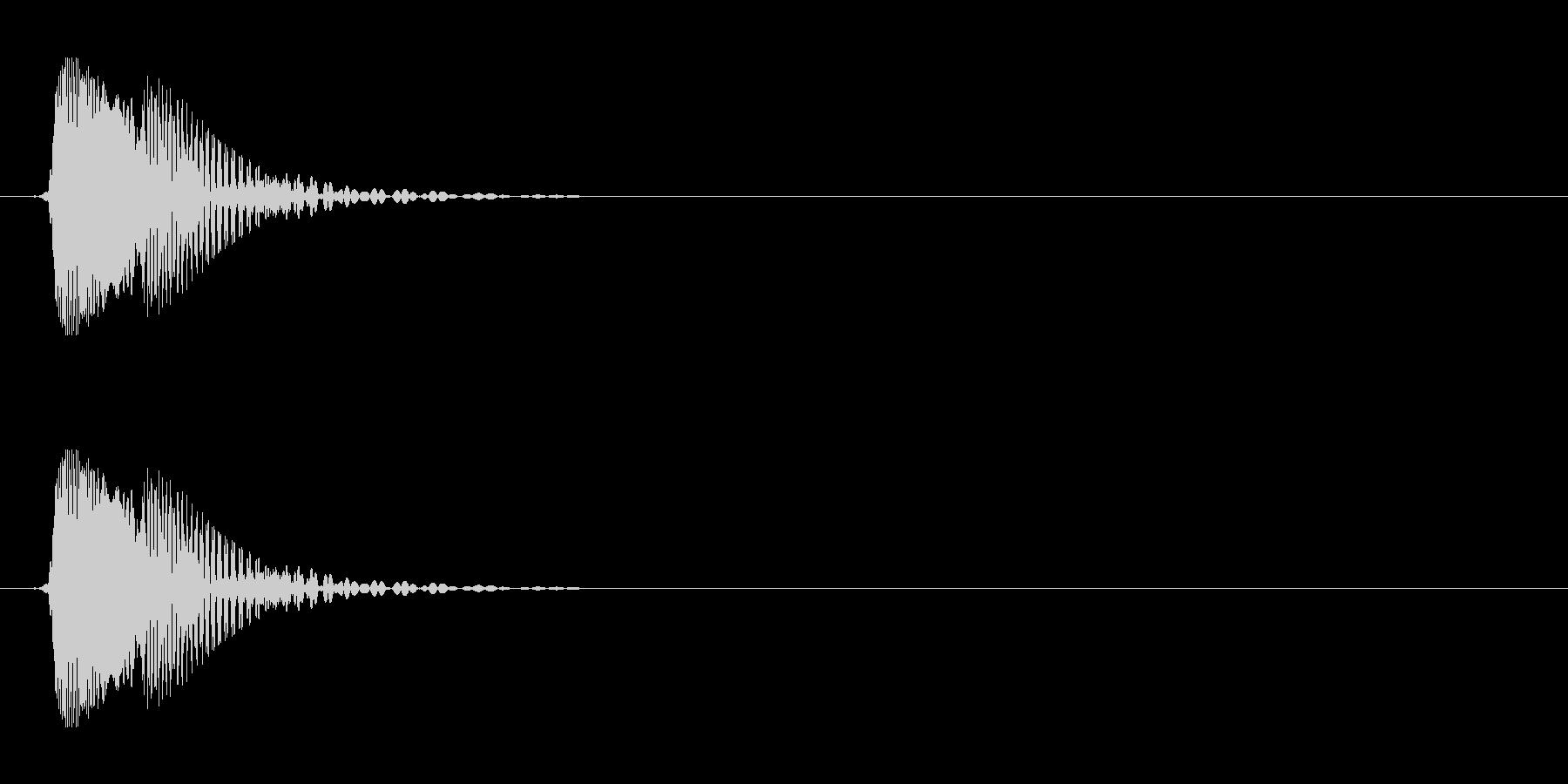 ジャンプやビームに(ゲーム効果音)の未再生の波形