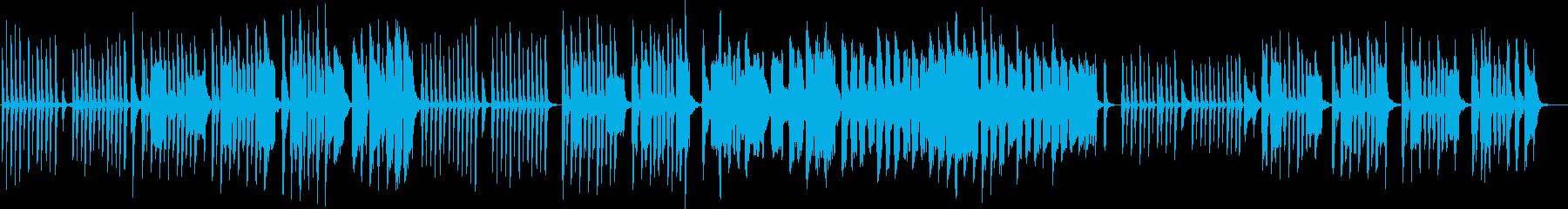 拙いピアノと口笛のかわいい曲の再生済みの波形