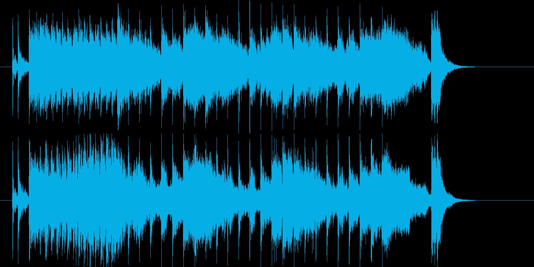 希望に満ち溢れる前向きな曲の再生済みの波形