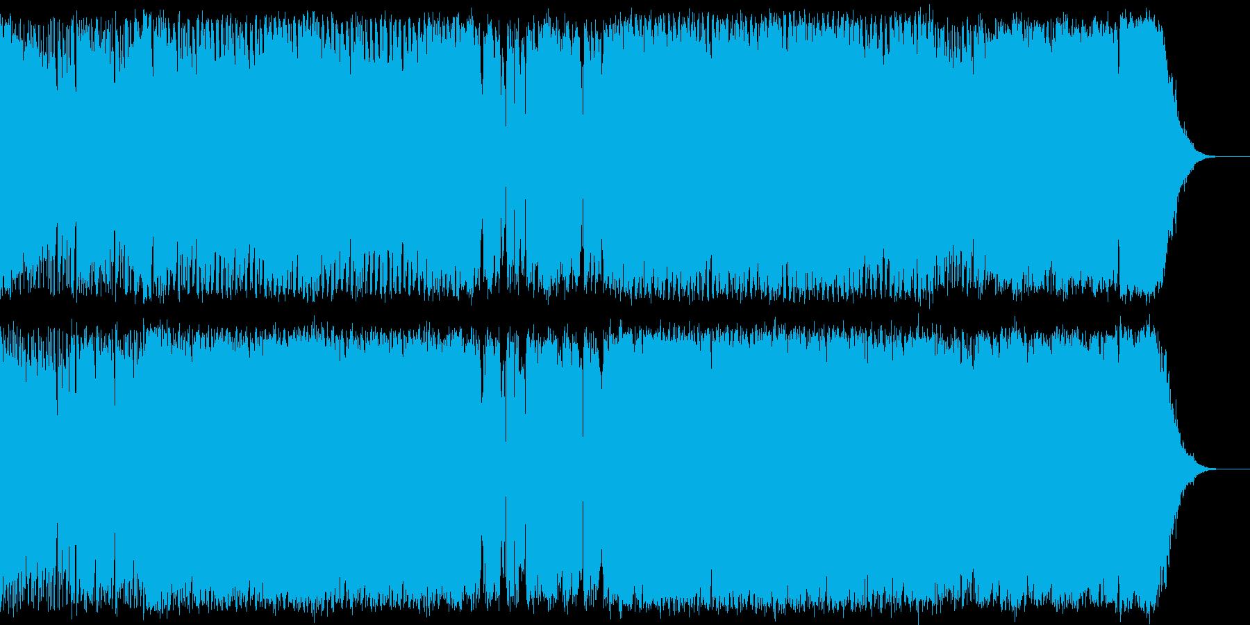 SFとかシューティングの勇猛なイメージCの再生済みの波形