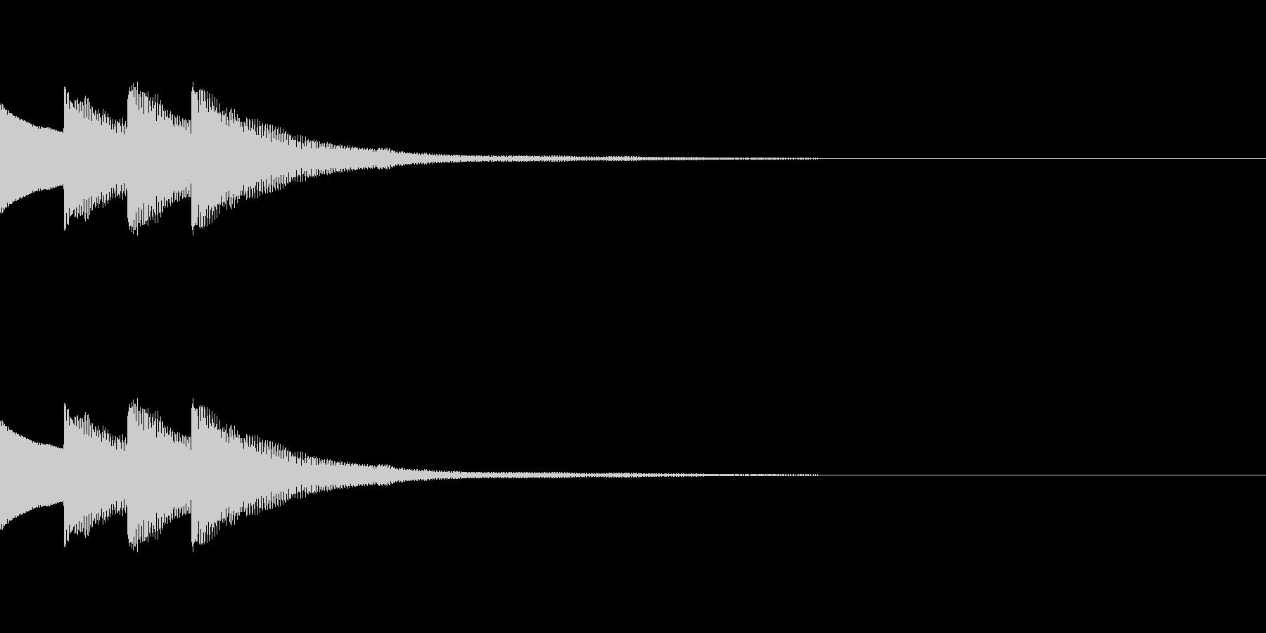 クイズ正解ピンポンピンポン ベルの未再生の波形