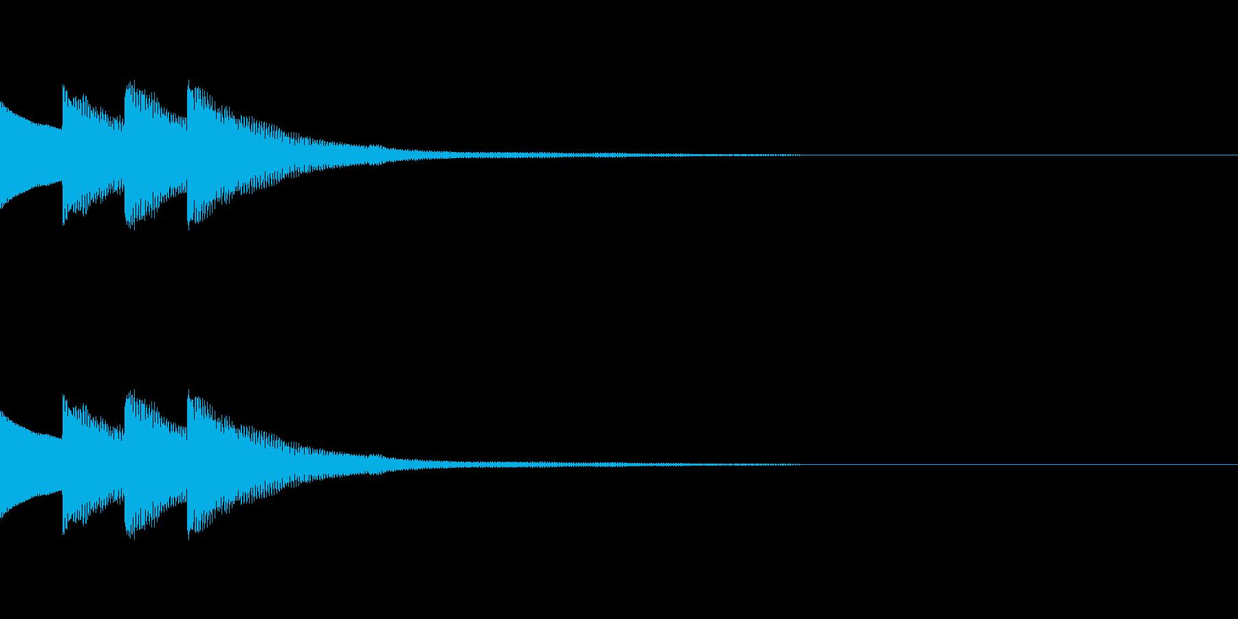 クイズ正解ピンポンピンポン ベルの再生済みの波形