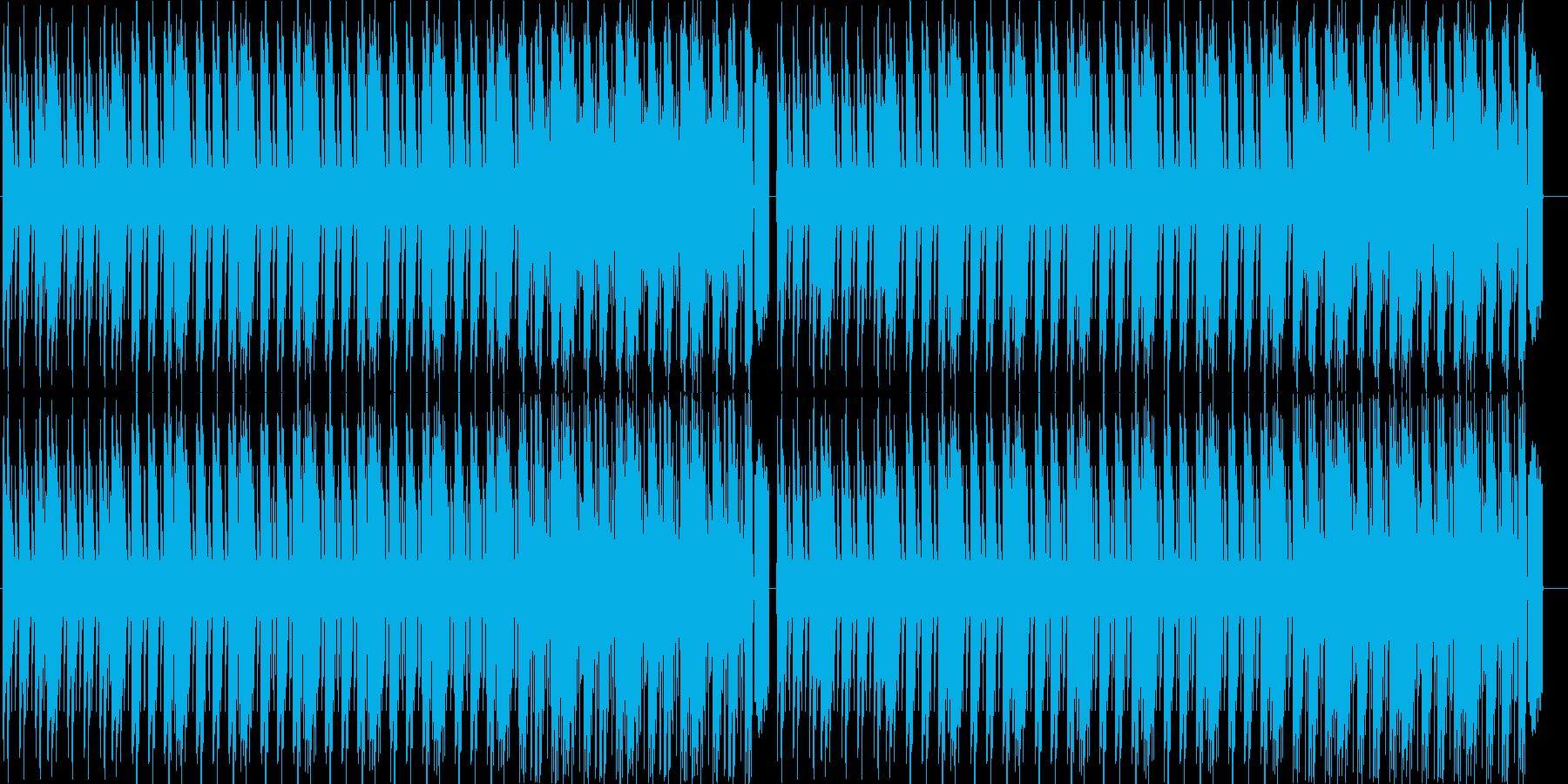 あやしげな4つ打ちの再生済みの波形