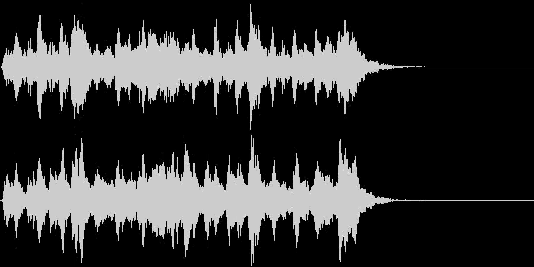 お伽の国のイメージのオーケストラジングルの未再生の波形