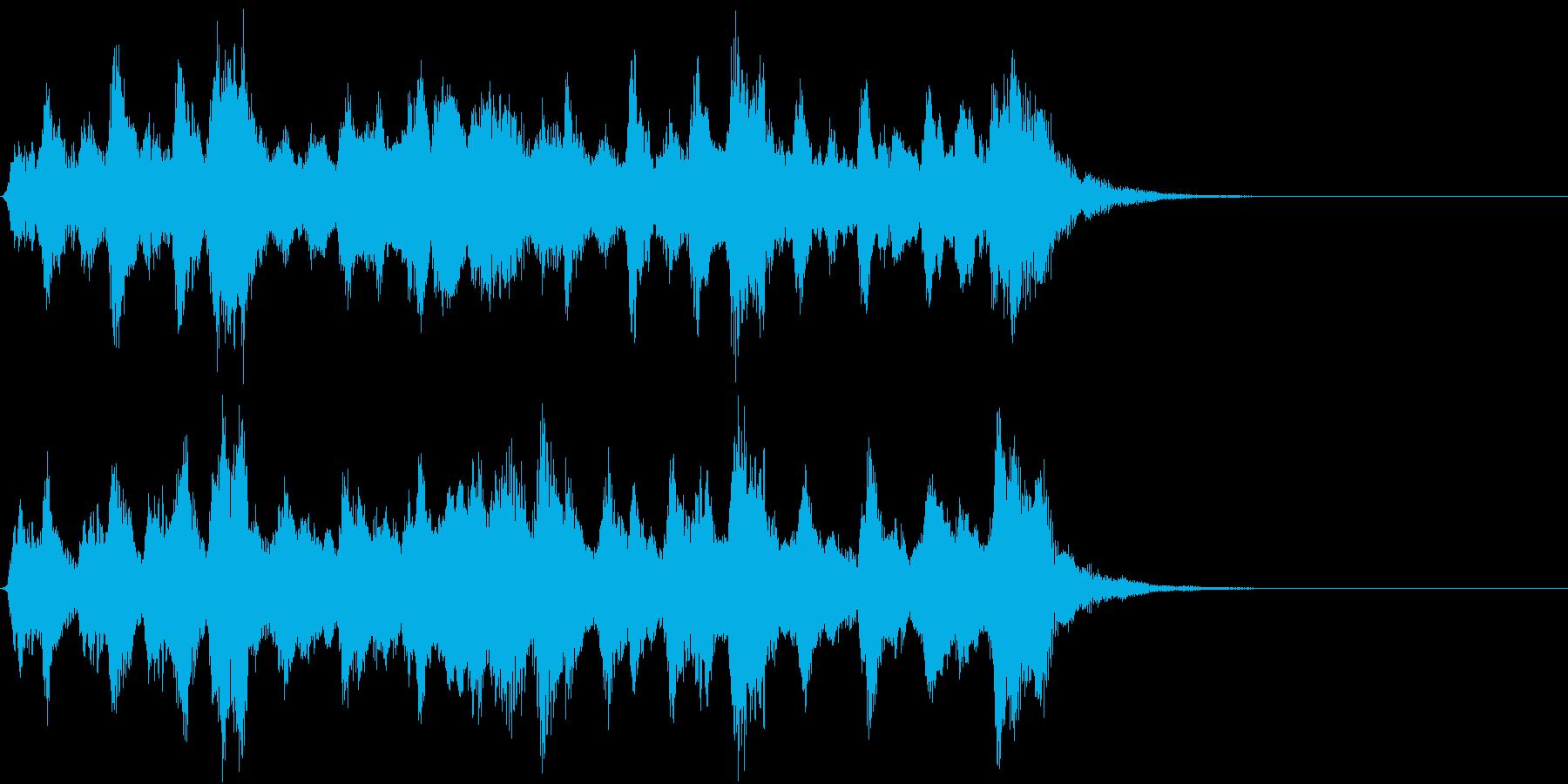 お伽の国のイメージのオーケストラジングルの再生済みの波形
