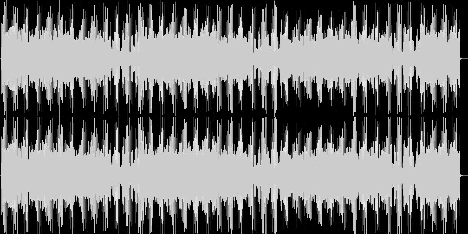 ビート感が躍動するシンセサイザーBGMの未再生の波形