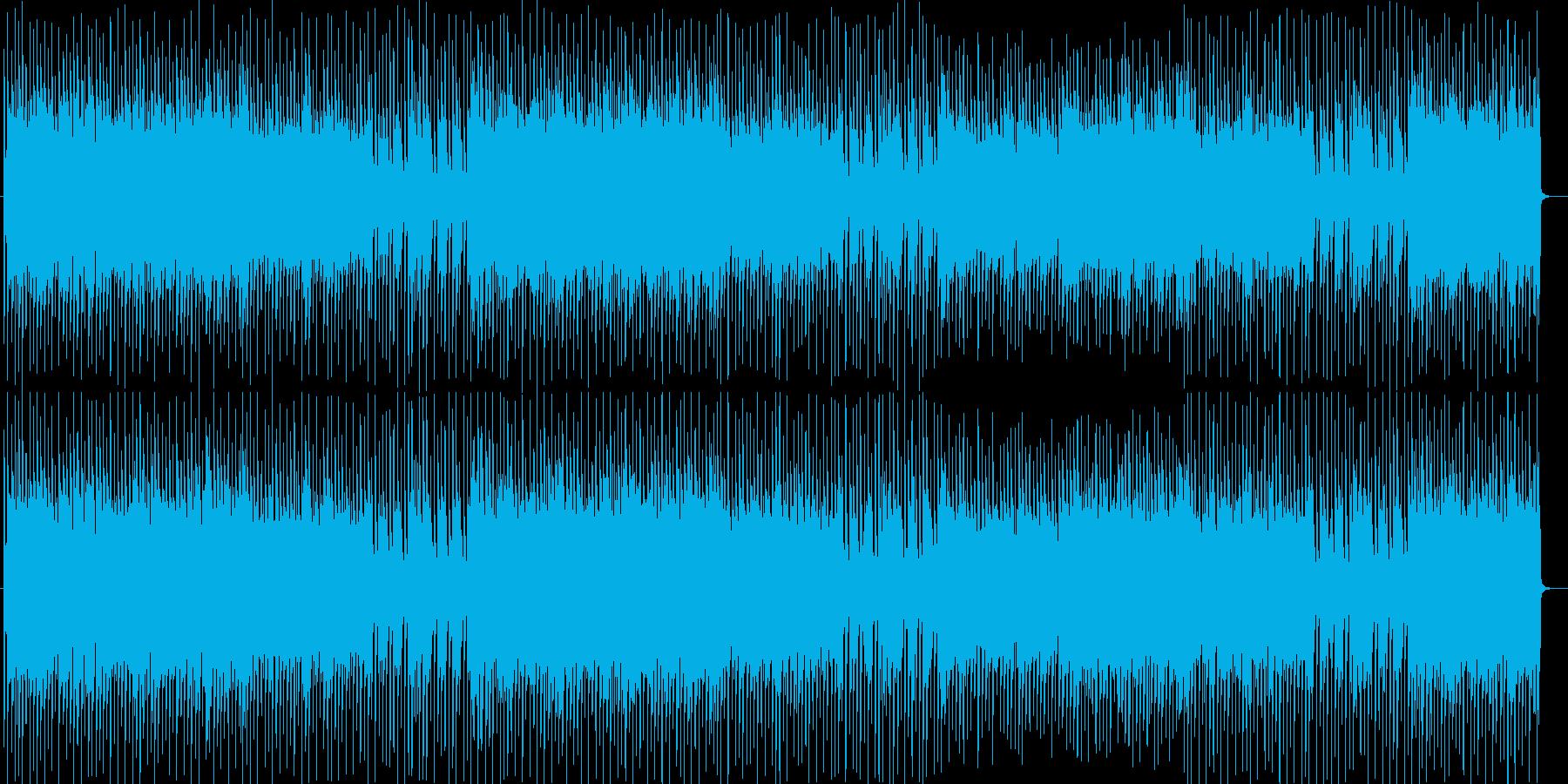 ビート感が躍動するシンセサイザーBGMの再生済みの波形
