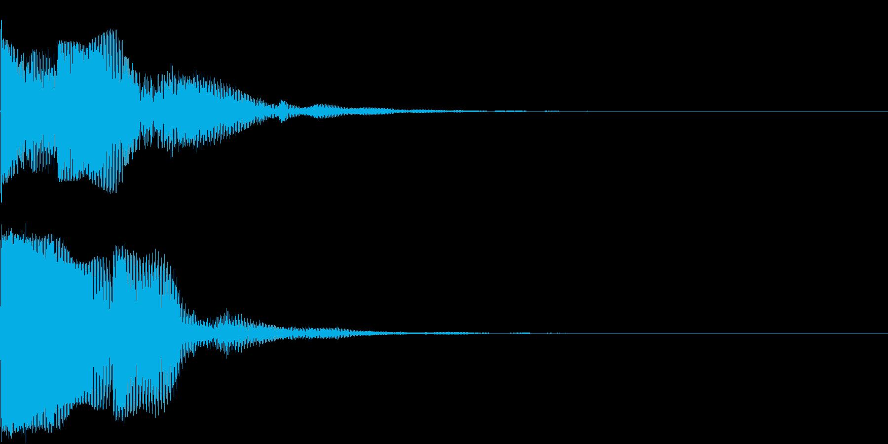 ピンという電子クリック音です。の再生済みの波形