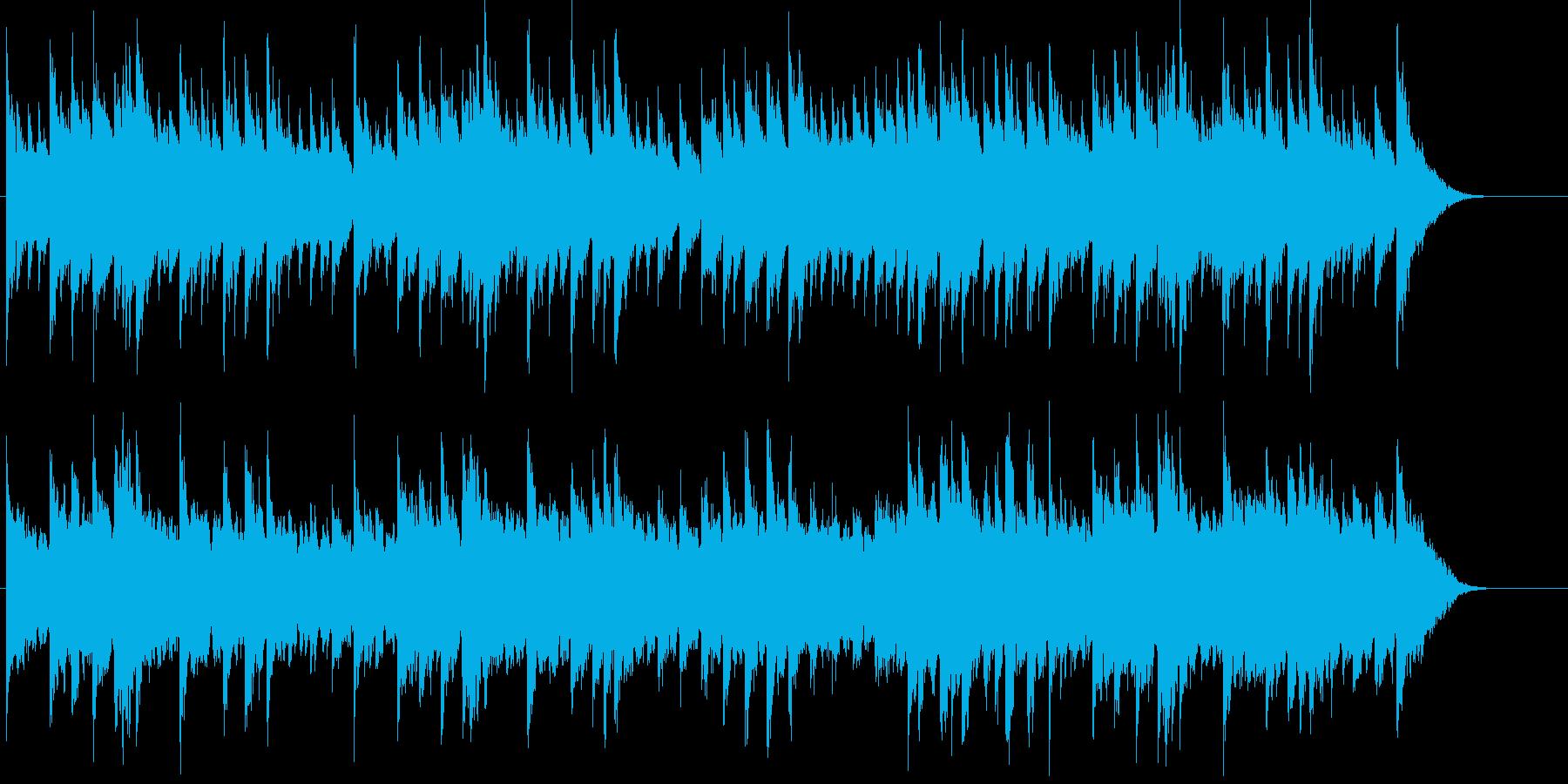 可愛らしい雰囲気の穏やかなBGMの再生済みの波形