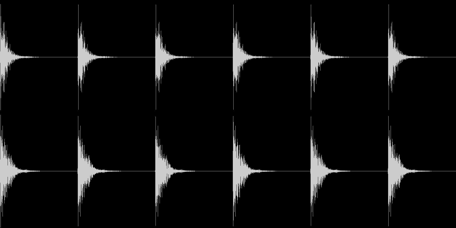 Kitchen 包丁の音 トントントンの未再生の波形